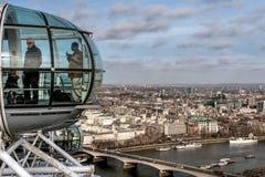 LONDRES - 27 DE ENERO: Visión desde el ojo de Londres en Londres en Janu Fotografía de archivo