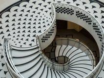 LONDRES - 3 DE FEVEREIRO: Tate Britain Spiral Staircase em Londres sobre foto de stock