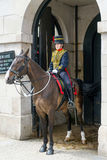 LONDRES - 30 DE JULHO: Reis Tropa Real Cavalo Artilharia em Whitehal Foto de Stock Royalty Free