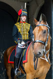 LONDRES - 30 DE JULHO: Reis Tropa Real Cavalo Artilharia em Whitehal Foto de Stock