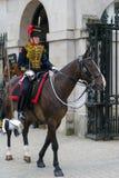 LONDRES - 30 DE JULHO: Reis Tropa Real Cavalo Artilharia em Whitehal Fotografia de Stock Royalty Free