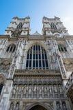 LONDRES - 13 DE MARÇO: Exterior da abadia de Westminster em Londres em março Fotografia de Stock