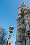 LONDRES - 13 DE MARÇO: Exterior da abadia de Westminster em Londres em março Fotografia de Stock Royalty Free