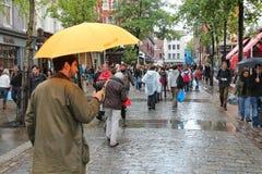 Londres en lluvia Imágenes de archivo libres de regalías