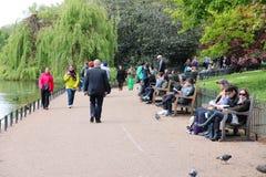 Londres - el parque de San Jaime Imagenes de archivo