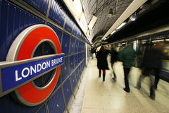 Vista interna de Londres subterrânea Imagens de Stock