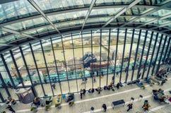 LONDRES - 26 DE SEPTIEMBRE DE 2016: El jardín del cielo en 20 Fenchurch Stre Imagen de archivo