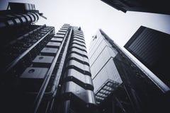 LONDRES - 21 DE SEPTIEMBRE: Los edificios del edificio de Lloyds Foto de archivo libre de regalías