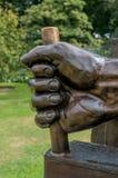 LONDRES - 7 DE SETEMBRO: Uma estátua de Maximus Ad Minima em jardins de Kew fotografia de stock