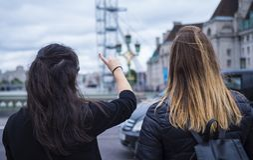 Londres de visite - un voyage de visite touristique Image stock