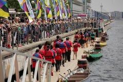 Londres Dragon Boat Festival fotografia de stock royalty free