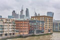 Londres durante el helada grande Imagen de archivo libre de regalías