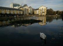 Londres e água foto de stock
