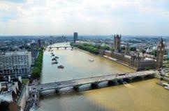 Londres e o rio Tamisa Fotos de Stock