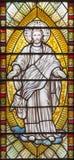 Londres - el detalle de Jesus Christ de la escena de la transfiguración en el vitral en el St Catharine Cree de la iglesia fotografía de archivo libre de regalías