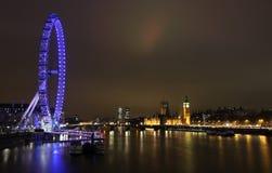 Londres em Noite Fotografia de Stock