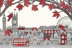 Londres en automne illustration stock