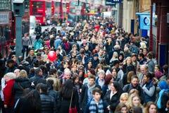 Londres en la hora punta - gente que va a trabajar Fotografía de archivo libre de regalías