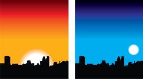 Londres en la noche ilustración del vector