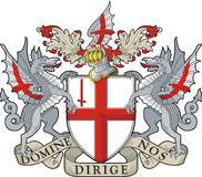 Londres. Escudo de armas Fotografía de archivo
