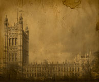 Londres. Fotografía del puente de la torre de la vendimia Fotos de archivo libres de regalías