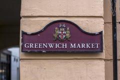 Londres, Gr? Bretanha 12 de abril de 2019 Mercado de Greenwich fotografia de stock