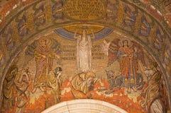 LONDRES, GRAN BRETAÑA - 17 DE SEPTIEMBRE DE 2017: El mosaico del juicio pasado simbólico en la catedral de Westminster Imagen de archivo libre de regalías