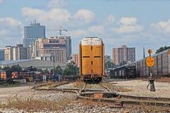Londres, horizon d'Ontario des yards de rail photographie stock libre de droits