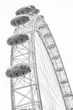 LONDRES/INGLATERRA CENTRALES - CIRCA agosto de 2013 - el ojo famoso de Londres Fotografía de archivo