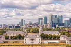 LONDRES, INGLATERRA - 21 DE AGOSTO DE 2016: Parque y museo marítimo nacional, jardines, universidad de Greenwich de Greenwich, na Imagen de archivo