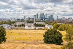 LONDRES, INGLATERRA - 21 DE AGOSTO DE 2016: Parque y museo marítimo nacional, jardines, universidad de Greenwich de Greenwich, na Fotos de archivo libres de regalías