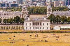 LONDRES, INGLATERRA - 21 DE AGOSTO DE 2016: Parque y museo marítimo nacional, jardines, universidad de Greenwich de Greenwich, na Imagenes de archivo