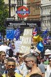 Londres, Inglaterra 23 de junio de 2018 Manifestación del voto del ` s de la gente Fotos de archivo