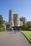 LONDRES - INGLATERRA 9 DE SETEMBRO DE 2015: Castelo de Windsor - visitantes e Foto de Stock
