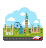 Londres, Inglaterra Fundo urbano Fotografia de Stock Royalty Free