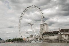 Londres, Inglaterra o Reino Unido O olho de Londres Fotos de Stock Royalty Free