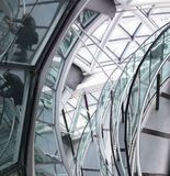LONDRES, interior da câmara municipal staircase imagem de stock royalty free