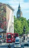 LONDRES - 14 JUIN 2015 : Double Decker Bus à Westminster Le Lo Images stock