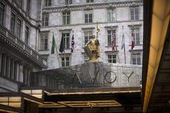Londres, le grand Londres, R-U, le 7 février 2019, entrée à l'hôtel de la Savoie photos stock