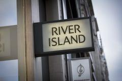 Londres, le grand Londres, Royaume-Uni, le 7 février 2018, île de rivière photographie stock libre de droits