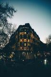 Londres le soir Lumières de ville Image libre de droits