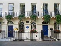 Londres, maison des auteurs célèbres Image stock