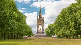 Londres Monumento de príncipe Albert, Hyde Park Londres almacen de video