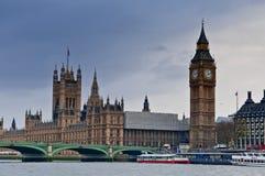 Londres no inverno Fotos de Stock Royalty Free
