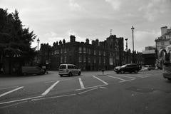 Londres noire et blanche image stock