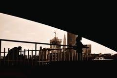 Londres noire et blanche photos stock