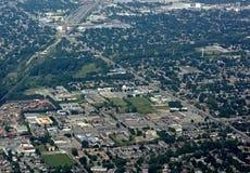 Londres Ontario, aéreo Fotos de archivo libres de regalías