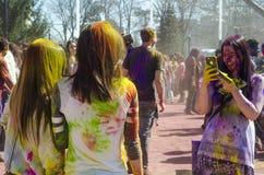 Londres Ontario, Canada - 16 avril : Jeune coloré non identifié Image stock