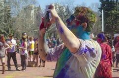 Londres Ontario, Canada - 16 avril : Jeune coloré non identifié Photos libres de droits
