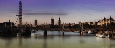 Londres panorâmico em tudo ele glória do ` s Imagem de Stock